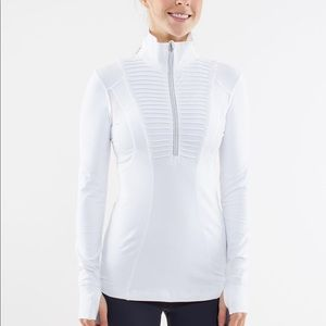 Lululemon Run Your Heart Out Pullover White Size 8